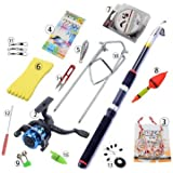 Atoz prime Fishing Gear Set Combination Fishing Supplies Full Set of Fishing Accessories 2.1M