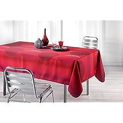 """'Moderno XL–Outdoor–Lotus de efecto de mantel """"red Illusions en Berry/rouge/rojo/violeta–tamaño 150x 240cm–Antimanchas Con Diseño–Líquidos perlas Fácil AB–El mantel perfecto para interior y exterior–SON más Manteles en el mismo diseño disponible en otros tamaños–También como Mantel de jardín para terraza balcón y jardín–de la kamaca–shop"""