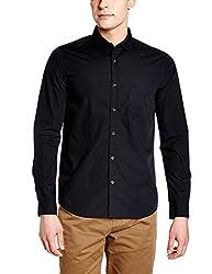 United Colors of Benetton Mens Casual Shirt (8903975378094_17P5PR55QV48I100_Small_Black)