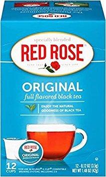 Red Rose Original Black Tea Keurig KCup - (12 K-Cups) - K-cups Red Rose Tea