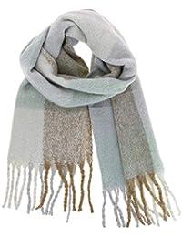FASHIONGEN - Echarpe femme épais laine à frange, ... 0aa200aee6a