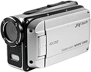 Jaytech 77007409 Wasserkamera (WHDV 5000, 5 Megapixel, CMOS Sensor, Full HD, 1920x1080p) Silber