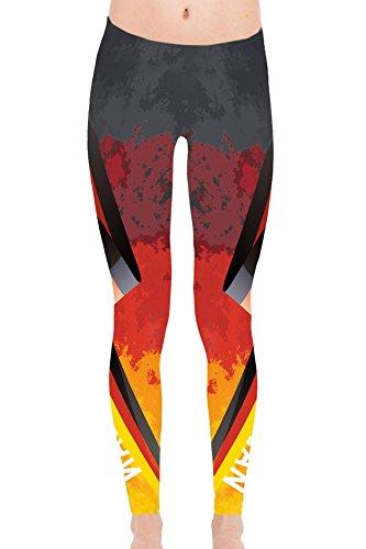 For G and PL WM 2018 2018 Damen Deutschland Fußball Team Sport Slim Workout Außen Printed Leggings Germany Motiv 2 L (Fußball-team-leggings)