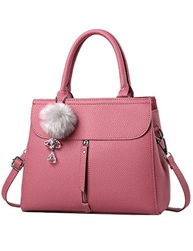 Menschwear Ladies Pu Borse Ladies Handbag Black Handbag School Ladies Handbags Pink 1 Pink 2