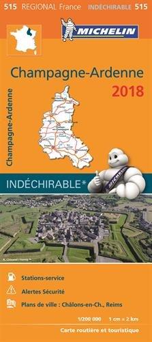 Carte Champagne-Ardenne Michelin 2018