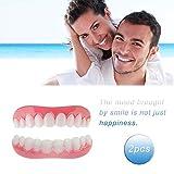 Carillas Dentales Dientes Postizos Temporales Inferior y Superiores Cómoda Reutilizable 2 Unids Para Cuidado Dental