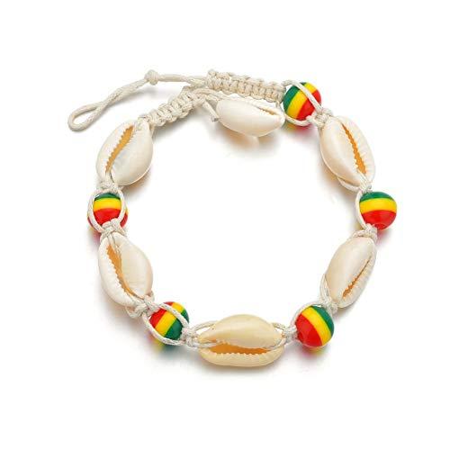 ZUOLUO Fußkette Damen Fußkette Silber Shell Große Länge Charm Der Sterne Indische Fußkettchen Strand Fußkette