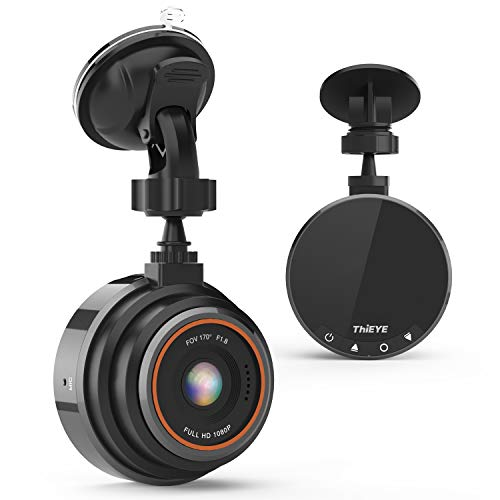 THIEYE Dash Cam FHD 1080P, Auto Camera Recorder, Dash Cam per auto con Telecamera Grandangolare di 170° Super-Condensatore WDR Night Vision, Registrazione in Loo
