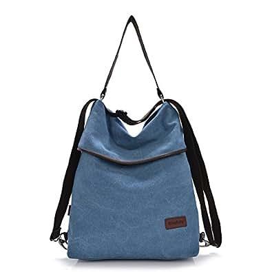 325f18b5aec3a Gindoly Canvas Tasche Damen Rucksack Handtasche Damen Vintage  Umhängentasche Anti Diebstahl Tasche Hobo Tasche für Alltag