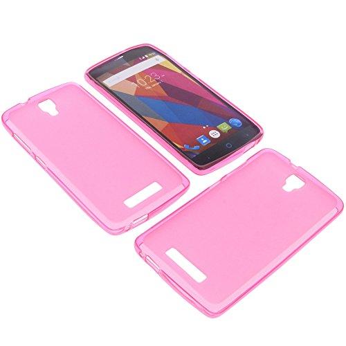 foto-kontor Tasche für ZTE Blade L5 Plus Gummi TPU Schutz Handytasche pink