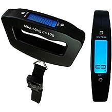 Básculas para Equipaje Balanza Luggage Scale Ergonómica LCD Báscula/Báscula Pesca Digital 50g/50Kg