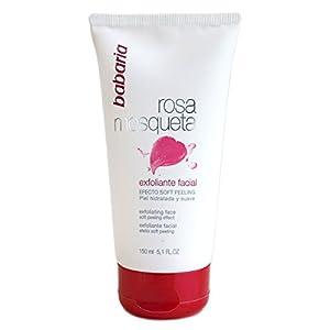 Babaria Rosa Mosqueta Gel Exfoliante Facial Limpiador, Blanco, 150 Mililitros