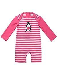 495ce0622aab5 iiniim Baby Girls One Piece Zip Rash Guard Sun Protection Swimsuit Swimwear  Wetsuit UPF 50+