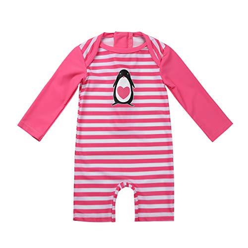 Inhzoy Bebé Niña Traje de Baño de Una Pieza Cómodo Jumpsuit Rayados Protección Solar Impresión...