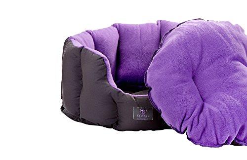 FONSO-Snuggle-Premium-Fleece-Small-Animal-Fleece-Nest-50cm-36cm-Internal-Black-Purple