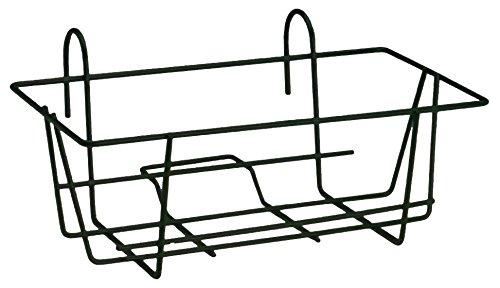 Fioriera 2000 rettangolare fissa in ferro nero da terrazzo balcone 30x50x51 cm ev