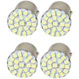 B TO B TRADERS 22 SMD White LED Bike Front and Rear Indicator Bulb Turn Signal Light Set of 4 Pcs. For - Royal Enfield Classic 350