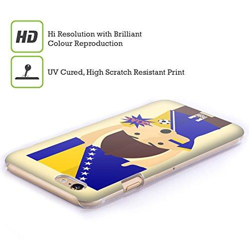 Head Case Designs Russia Viva Il Calcio Cover Retro Rigida per Apple iPhone 7 Plus / 8 Plus Bosnia Herzegovina