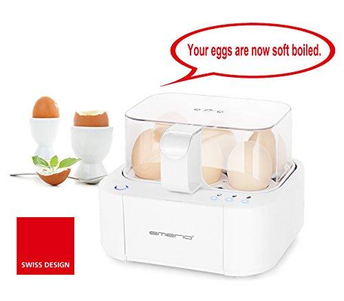 Emerio EB-115560 WELTNEUHEIT: voll-automatischer Eierkocher, 400, Weiß/400 Watt