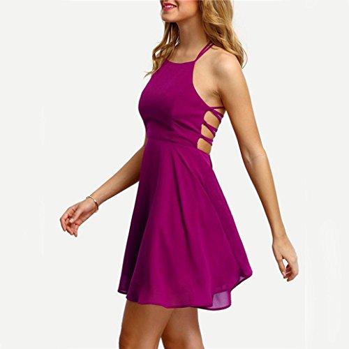 AmazingDays Maglia a Manica Lunga - Monospalla - Donna rosa caldo