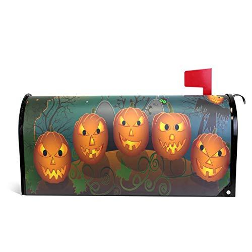 Alaza(mailbox cover) WOOR Cartoon Halloween Kürbisse und Vogelscheuche magnetische Briefkastenabdeckung, Standardgröße, 45,7 x 52,1 cm 20.8x18 inch Standard Size Multi