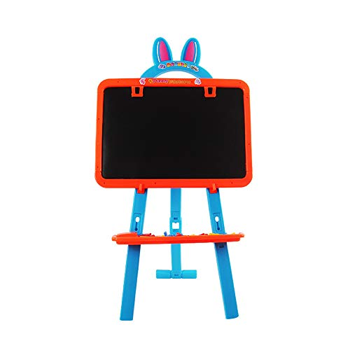 Chevalet de peinture d'art pour enfants Les jouets éducatifs pour enfants Sketchpad Magnetic Big Tablet double face peuvent travailler levage chevalet d'échafaudage Chevalet d'apprentissage éducatif a