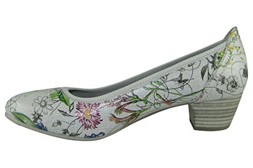 Softline 8-8-22361-28-908, Scarpe col tacco donna flower comb