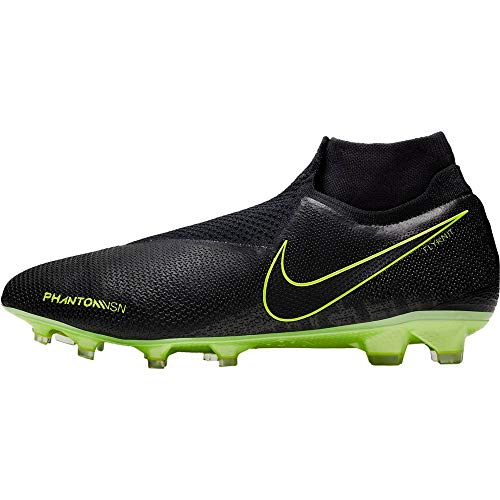 Nike Phantom Vision Elite Dynamic Fit FG, Botas de fútbol Unisex Adulto, Multicolor Black/Volt 7, 42.5 EU