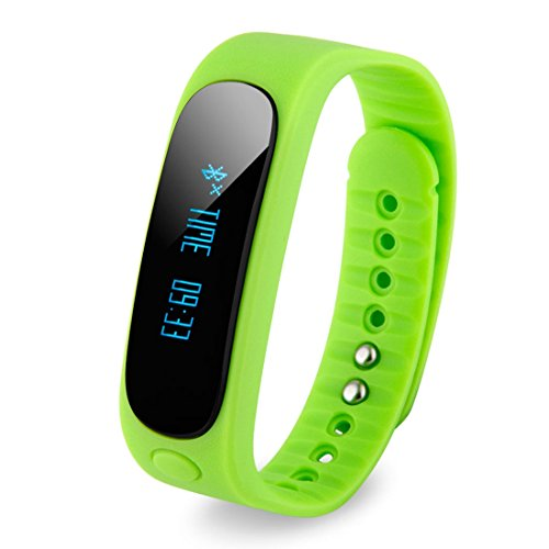 intelligent bracelet - SODIAL(R)E02 Fitness intelligent Bluetooth bracelet(cyan)