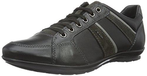 Geox, Herren Uomo Symbol A Sneakers, Schwarz (Black/MUDC9355), 43 EU