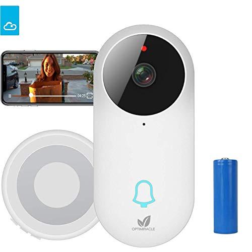 Videoportero timbre WiFi inalámbrico cámara con pilas y carillón 960P HD CCTV Inteligente seguridad audio bidireccional interfone tiempo real video IR visión nocturna HD 166° visión APP controlar
