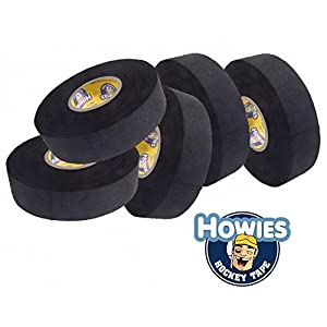 Howies 5x Schlägertape Profi Cloth Hockey Tape schwarz 25mm f. Eishockey