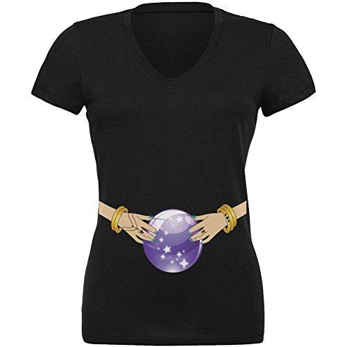 Halloween Fortune Teller Kostüm Zigeuner Junioren v-neck T-Shirt schwarz LG (Fortune Teller Zigeuner Kostüme)