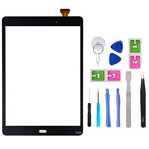 Tefir Noir Écran Tactile Replacement pour Samsung Galaxy Tab A 9.7'' SM-T550 SM-T555 T550 T555 avec Outils et adhésif