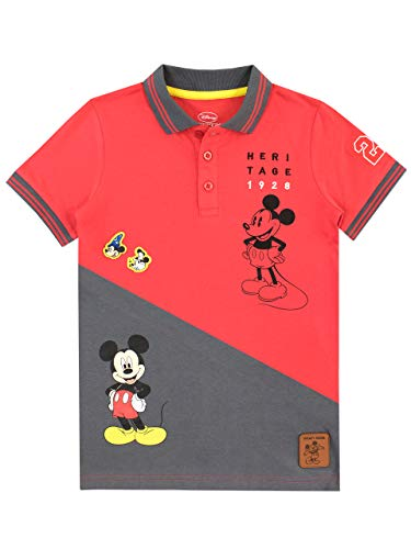 Disney Jungen Mickey Mouse Poloshirt Mehrfarbig 104 - Mickey Mouse T-shirt Top
