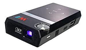 Willswell MP-311A DLP LED Pocket Projector with WVGA native resolution and Full HD media player from USB & Micro-SD Card and built-in rechargeable battery back up