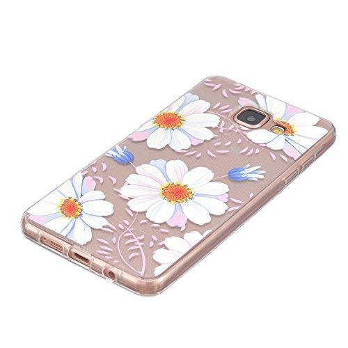 Voguecase® Pour Apple iPhone 5 5G 5S, TPU Silicone Shell Housse Coque Étui Case Cover (frontière Rose)+ Gratuit stylet l'écran aléatoire universelle petit Daisy 02