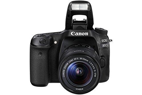 Canon 80d + EF-S 18-135mm IS USM Jeu de caméra SLR 24,2MP CMOS 6000x 4000pixels Noir-Appareil photo numérique (24,2MP, 6000x 4000pixels, CMOS, enregistrement vidéo, Full HD, Noir)
