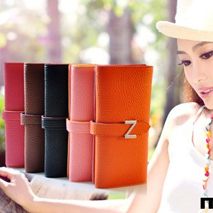 GENERIC Free shipping 100% Quality Gurantee New Style Korean Women Leather Clutch Bag+Wallet