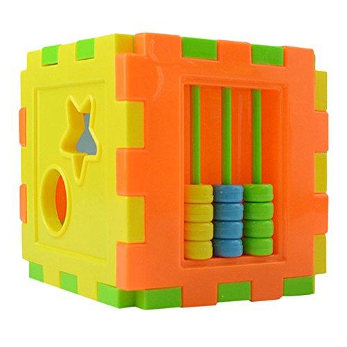❤️LILICAT en Plastique Puzzles Enfants Boîte Éducatifs Enfants Jeu Apprendre Bébé Géométrie Jigsaw Cadeaux Jouets Éducatifs (Multicolore)