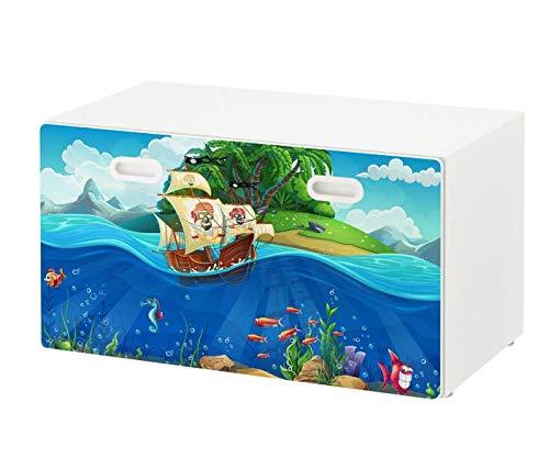 Eigenes Bild als Möbelaufkleber für Ikea STUVA FRITIDS Bank Foto Klebefolie Kinderzimmer Aufkleber Möbelfolie Folie (Ohne Möbel) sticker