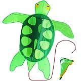 ZHONGRAN Kinder Drachen, Zeile 3D - Drachen Schildkröte für Jungen und Mädchen, Abmessung: 107x100cm, 30m Drachenschnur