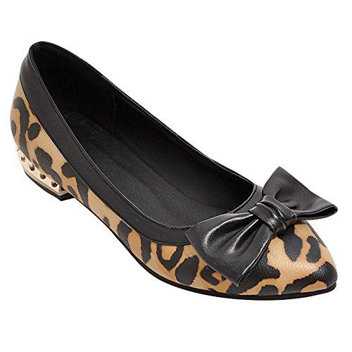 Mee Shoes Damen bequem Schleife Niedrig Pumps Gelb