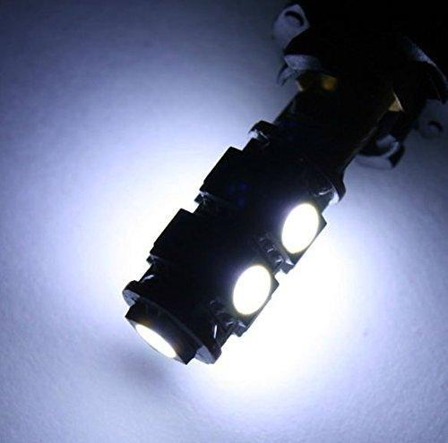 Jurmann Trade GmbH® Luce di posizione a LED, serie 9Xenon, base in vetro W5W T10, CanBus, Xenon, ca. 7.000K, colore: bianco officina Ware