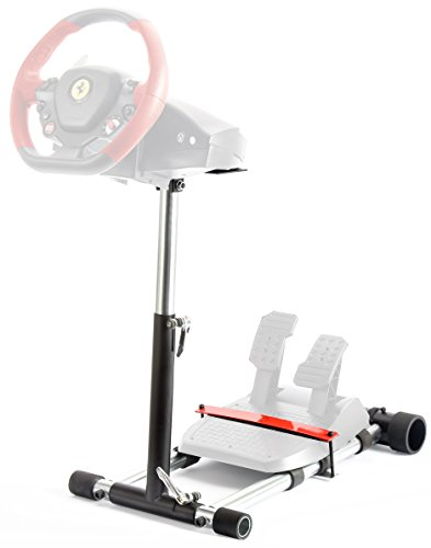 Wheel Stand Pro for Thrustmaster T80 /T100 /F458 /F430 /RGT wheels - V2 ROSSO (Not include a handle controller)