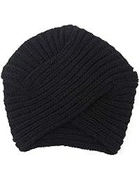 DALUCI Knitted Felt Hat Turban Head Wrap Twist Warm Beanies Headwear Cap for Women