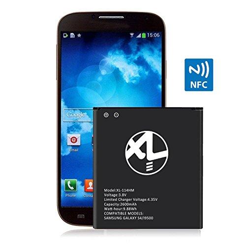 Xlhama batteria ricambio per Samsung Galaxy S4, GT-i9500 GT-i9505 con NFC 2600 mAh Data costruzione produzione 2018 new EB-B600BE | del modello S4 i9500 | LTE i9505
