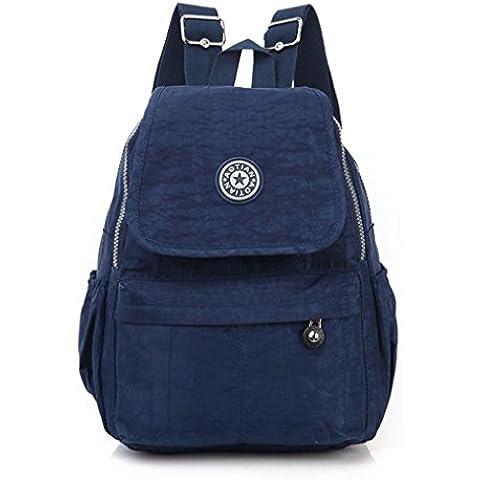 Clode® Ocio de Nylon chicos chicas mochila mochila Colegio mochila senderismo bolso mochila