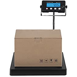 Steinberg Systems Báscula para Paquetería Balanza Digital para Paquetes SBS-PT-75C (75 kg / 10 g, Superficie de pesaje 40 x 40 cm, Pantalla LCD)