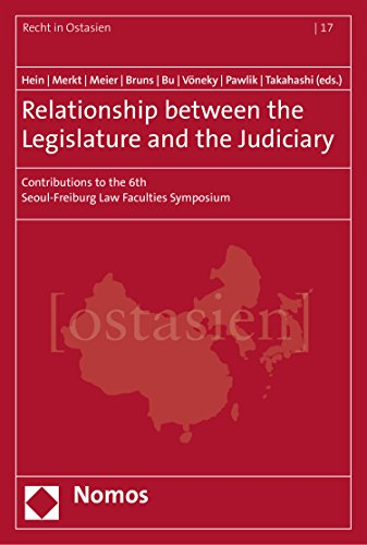 Relationship between the Legislature and the Judiciary: Contributions to the 6th Seoul-Freiburg Law Faculties Symposium (Recht in Ostasien Book 17) (English Edition)